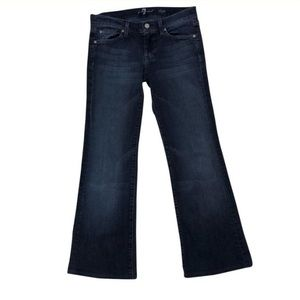 7 For All Mankind white stitch Dojo Jeans